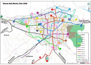 Update of Tehran Rail Master Plan