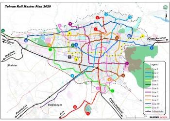 Update of Tehran Rail Master Plan
